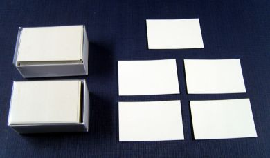 250 Conqueror High White Laid Business Card Blanks, 300 gsm.